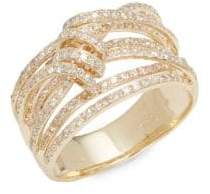 Effy Diamond & 14K Yellow Gold Ring