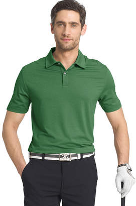 Izod Ss Golf Cutline Stretch Heather Polo Short Sleeve Stripe Knit Polo Shirt Big and Tall