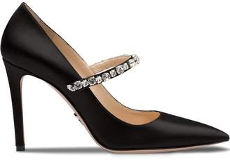 Prada crystal embellished high-heel pumps