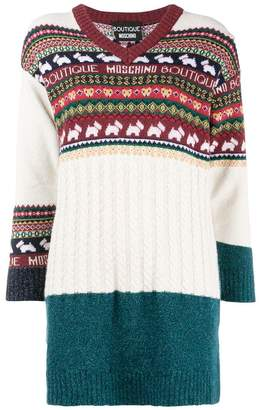 Moschino intarsia knit sweater
