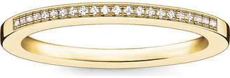 Thomas Sabo Infinity 18ct yellow gold-plated diamond band