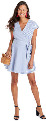 Vineyard Vines Grier Stripe Mix Wrap Dress
