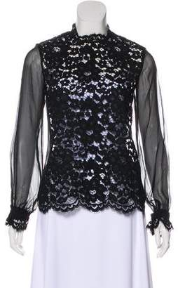 Alexis Emma Sheer Accent Lace Blouse w/ Tags