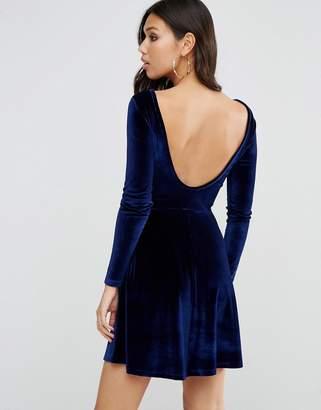 ASOS Scoop Back Skater Dress in Velvet $38 thestylecure.com