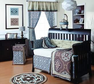 CoCalo 4-Piece Bedding Set Corlu, Blue/Brown