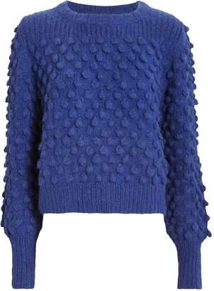Eleven Paris Six Camilla Blue Pom-Pom Sweater
