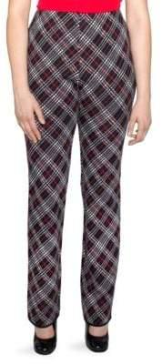 Stizzoli, Plus Size Straight-Leg Wool Argyle Pants