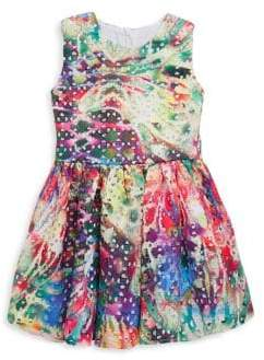 Halabaloo Baby's, Little Girl's & Girl's Tie-Dye Eyelet Dress