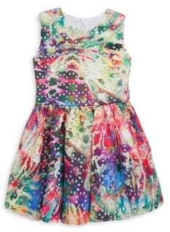 Halabaloo Baby's, Little Girl's & Girl's Tie-Dye Eyelet Dress