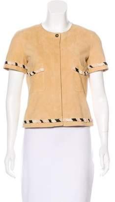 Chanel Embellished Suede Jacket