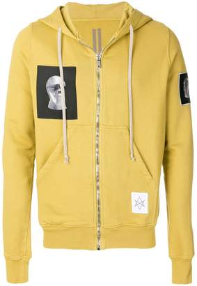 Rick Owens patched hoodie