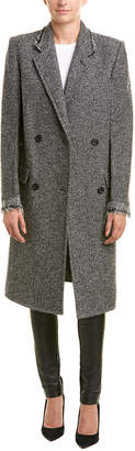 Helmut Lang Deconstructed Wool-Blend Overcoat