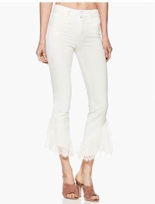 """Paige Hoxton Straight Ankle 27"""" - Poodle White Lace Ruffle"""