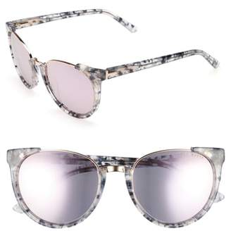 Ted Baker 53mm Modified Oval Sunglasses