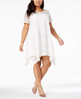 Robbie Bee Plus Size Lace Trapeze Dress