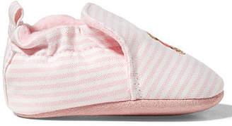 Ralph Lauren Percie Striped Canvas Slipper