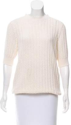 Nina Ricci Crochet Short Sleeve Top