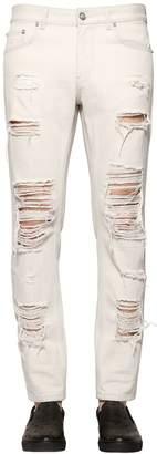 Versus 18cm Destroyed Denim Slim Fit Jeans