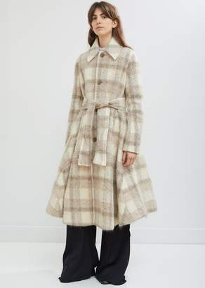 Acne Studios Mohair Alpaca Check Coat