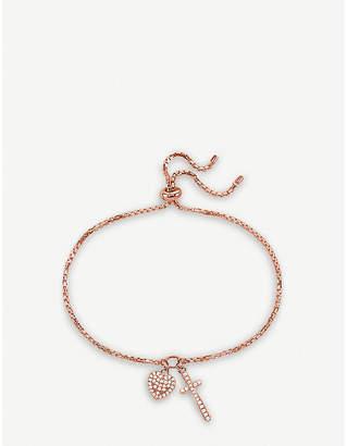 Folli Follie Charm Mates rose gold-plated heart and cross bracelet