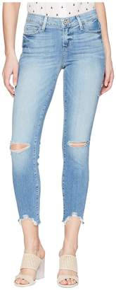 Paige Verdugo Crop w/ Worn in Hem in Janis Destructed Women's Jeans
