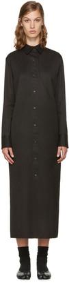 Yohji Yamamoto Black Long Shirt Dress $1,300 thestylecure.com