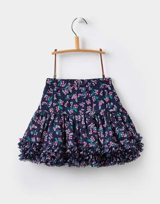 Joules Clothing French Navy Winter Ditsy Lilian Tutu Skirt 1yr