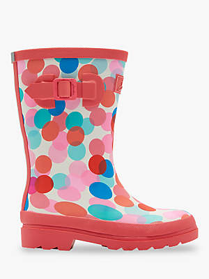 Joules Children's Fairy Ditsy Wellington Boots, Pink