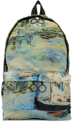 Off-White Multicolor Lake Backpack