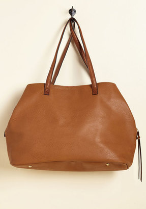 ModCloth Minutes Turn to Sections Bag in Toffee $24.99 thestylecure.com