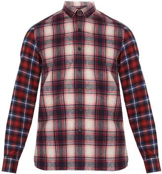 Lanvin Checked single-cuff cotton shirt