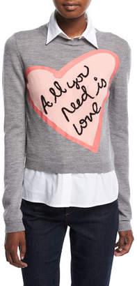 Alice + Olivia Nikia All You Need Love Pullover