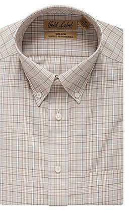 Roundtree & Yorke Gold Label Big & Tall Perfect Performance Plaid Sportshirt