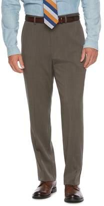 Chaps Big & Tall Classic-Fit Performance Flat-Front Dress Pants