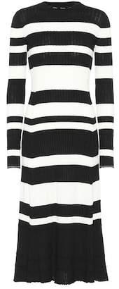 Proenza Schouler Wool, silk and cashmere midi dress