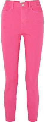 Current/Elliott The Ultra High Waist Skinny Jeans - Pink
