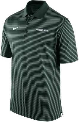 Nike Men's Michigan State Spartans Striped Stadium Dri-FIT Performance Polo