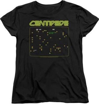 Atari Centipede Screen Womens Short Sleeve Shirt MD