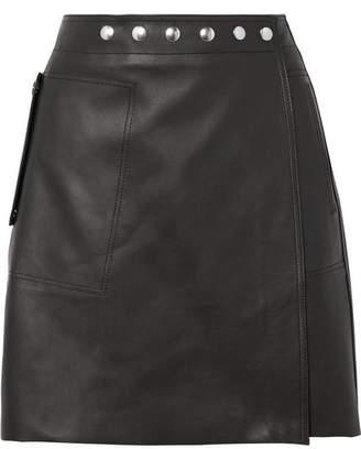 Acne Studios Shiryn Leather Wrap Mini Skirt - Black