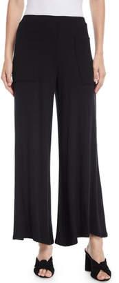 Rachel Pally Neva Luxe Rib Wide-Leg Front-Pocket Cropped Pants, Plus Size
