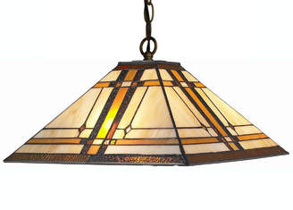 Tiffany & Co. AMORA Amora Lighting AM1053HL14 Style Mission 2-light Hanging Lamp