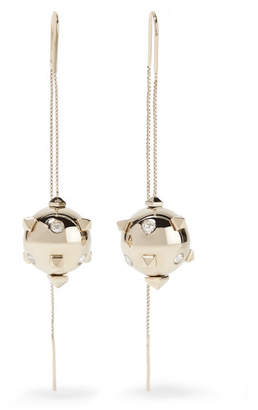 Valentino Garavani Silver-tone Crystal Earrings