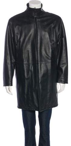 Salvatore Ferragamo Reversible Leather Coat