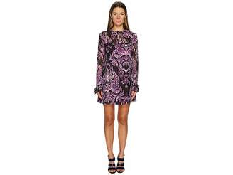 Just Cavalli Baroque Printed Long Sleeve Dress Women's Dress