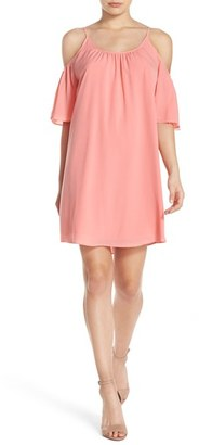 French Connection 'Polly' Cold Shoulder Shift Dress $98 thestylecure.com