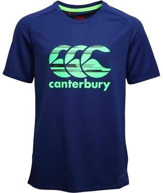 Canterbury of New Zealand Junior Boys VapoDri Poly Logo Top Blue Print