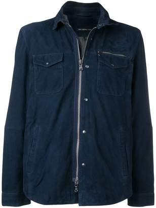 John Varvatos zipped up leather jacket
