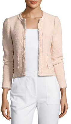 Rebecca Taylor Boucle Tweed Jacket, Pink $475 thestylecure.com