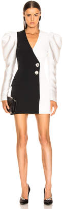 David Koma Gigot Sleeve Tailored Dress