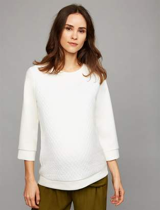 Pietro Brunelli Jacquard Maternity Sweatshirt